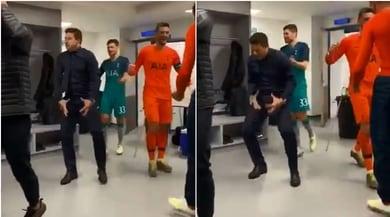 """Pochettino esulta come Ronaldo e Simeone: gli attributi """"mostrati"""" nello spogliatoio"""