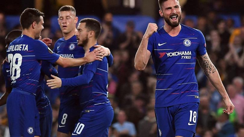 Europa League: il Chelsea soffre ma passa il turno, rimonta Eintracht, Valencia facile