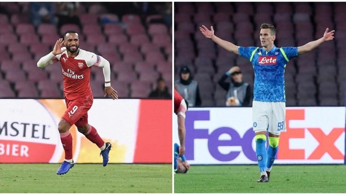 Vince l'Arsenal al San Paolo, al Napoli non riesce la rimonta: un calcio di punizione del francese decide l'incontro. Sullo 0-0, annullato un gol al polacco