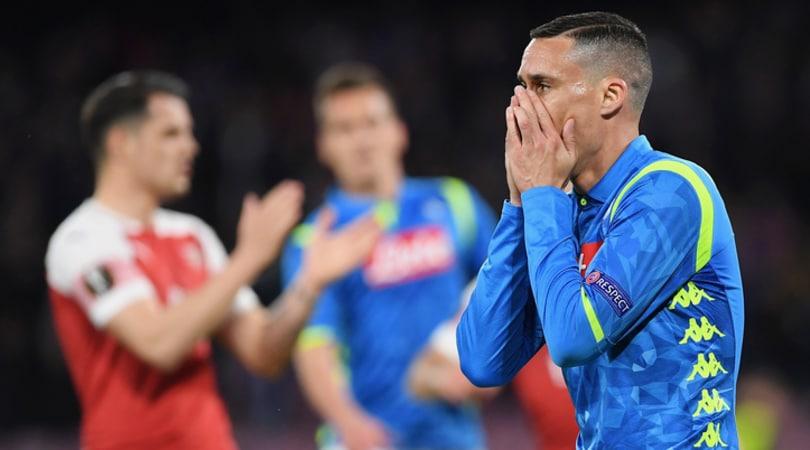 Napoli-Arsenal 0-1: basta Lacazette, Ancelotti eliminato