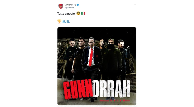 L'Arsenal e il tweet su Gomorra che scatena la bufera