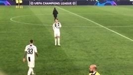 Juve, il gesto di Ronaldo a fine partita spopola sui social