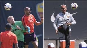 Roma, Olsen non fa il portiere e duella con Nzonzi. E Ranieri...