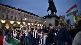 Juventus campione d'Italia: piazza San Carlo si veste di bianconero