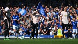 United, crollo totale con l'Everton: 4-0 e Champions più lontana