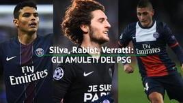 PSG campione, Silva-Verratti-Rabiot amuleti dei 6 titoli