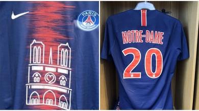 Il Psg omaggia Notre Dame con una maglia speciale