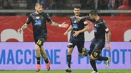 Serie B, Lecce corsaro a Perugia. Brignoli evita la sconfitta al Palermo
