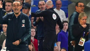Sarri, una furia in panchina: contestato ed espulso contro il Burnley