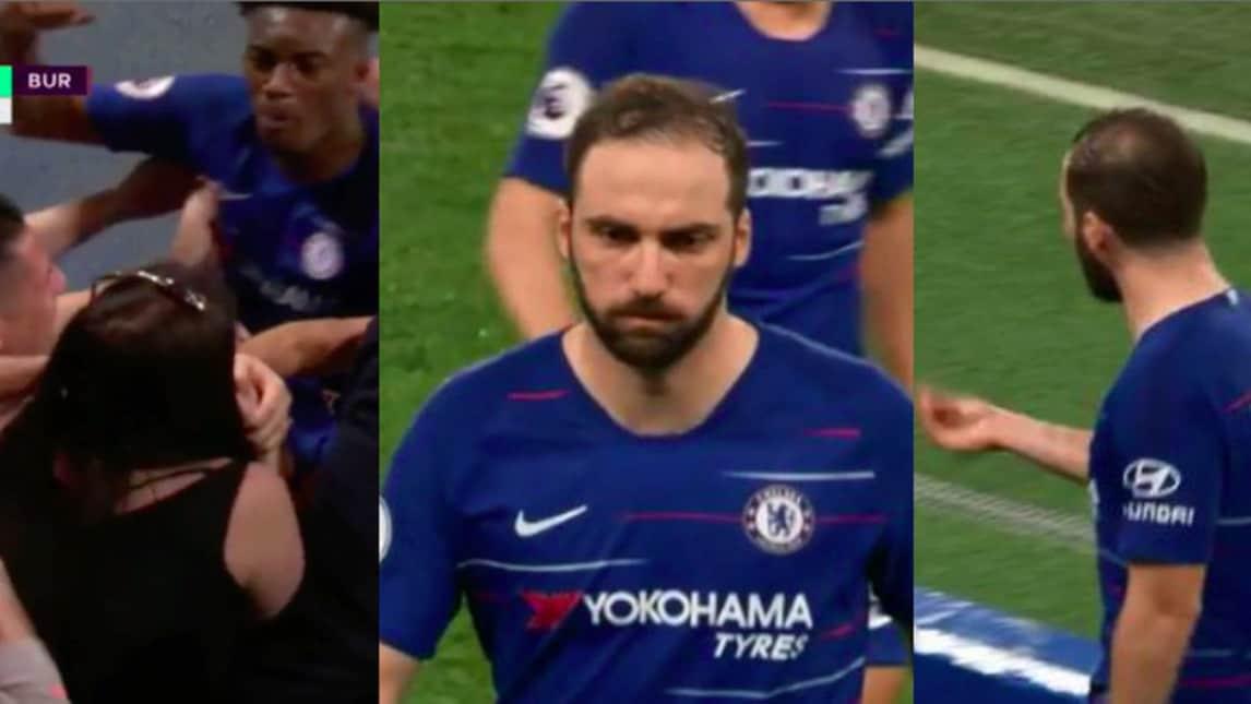 Serata particolare per il Pipita nel monday night contro il Burnley: prima il festeggiamento tra i seni di una supporter e poi la rabbia per la sostituzione