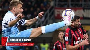 Milan-Lazio, le probabili formazioni