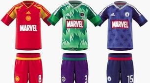 Avengers Endgame, ecco le maglie da calcio ispirate ai supereroi Marvel
