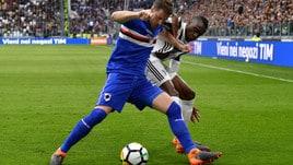 Serie A Sampdoria, allenamento in gruppo per Sala