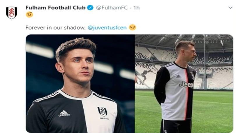 Il Fulham punge la Juve per la nuova maglia