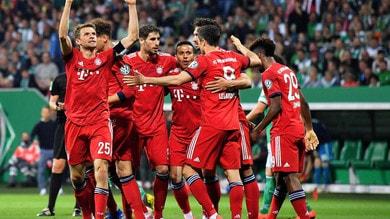 Coppa di Germania, il Bayern vince a Brema e vola in finale