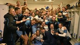 Lazio, gioia incredibile anche nello spogliatoio