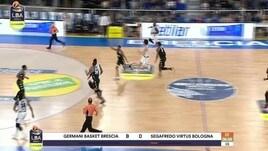 Germani Basket Brescia-Segafredo Virtus Bologna 77-75