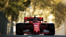 F1, Gp Baku: doppietta Ferrari nelle seconde libere