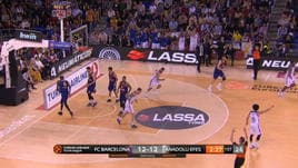 Barcellona Lassa-Anadolu Efes Istanbul 82-72, gli highlights