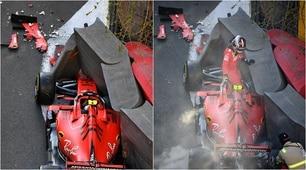 F1 Gp Azerbaijan: Leclerc contro il muro, Ferrari in frantumi