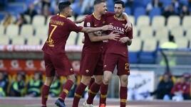 Roma, bentornato Pastore: gol e ovazione dell'Olimpico