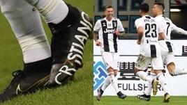 Inter-Juventus 1-1: Ronaldo riprende Nainggolan e mostra i nuovi scarpini