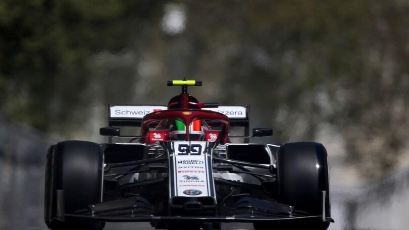 F1 Azerbaijan, Giovinazzi: «Spero nella zona punti»