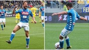Mertens, che perla su punizione! 81 gol in A come Diego