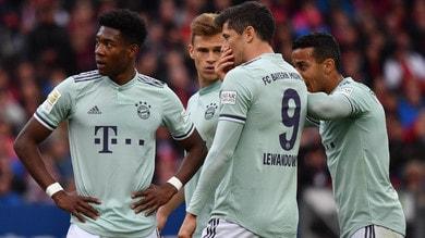 Bundesliga, il Bayern tiene vivo il campionato: 1-1 a Norimberga