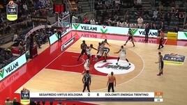 Segafredo Virtus Bologna-Dolomiti Energia Trentino 74-69