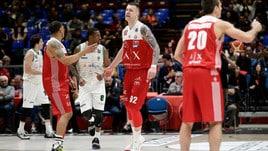 Basket, Serie A: Milano affonda Avellino, Bologna ferma Trento