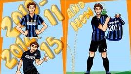 Ranocchia rinnova con l'Inter: esulta in versione