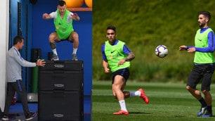 Inter, allenamento anche in palestra: che salto Perisic!