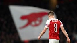 Ramsey, stagione finita con l'Arsenal: «Col Napoli la mia ultima partita»