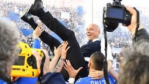 Brescia, è Serie A! Corini portato in trionfo