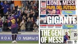Champions, l'Europa ai piedi di Messi: «È il papà del calcio»