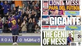 Champions, l'Europa ai piedi di Messi: «È il Papa del calcio»