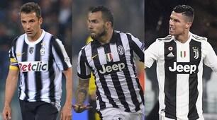 Juventus, ecco le maglie degli otto scudetti