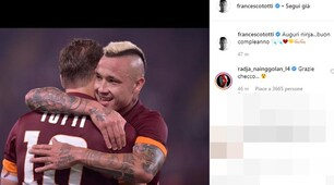 Da Totti a Pjanic: gli auguri social a Nainggolan