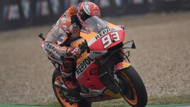 MotoGp, Jerez: Marquez davanti nel Warm Up, Rossi 15/o