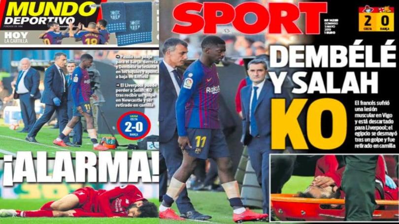 Liverpool-Barcellona, preoccupazione per Salah e Dembélé: out Firmino