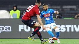 Serie A Napoli-Cagliari 2-1, il tabellino