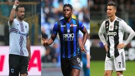 Scarpa d'Oro: Quagliarella show, Zapata sopra Ronaldo