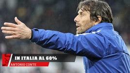 Antonio Conte  allenero' in Italia al 60%