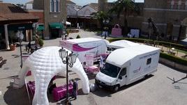 Castel Romano si tinge di rosa per sostenere la prevenzione