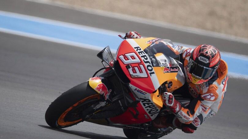 MotoGp Honda, Marquez: «A Jerez test positivi»