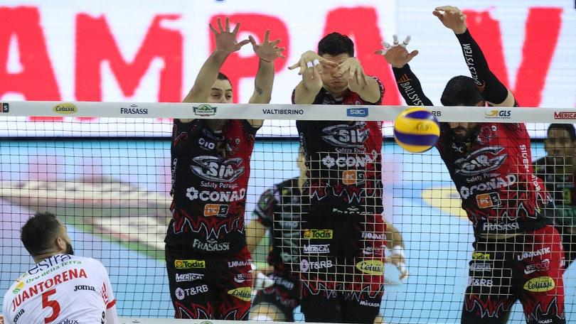Volley: Superlega, mercoledì sera Perugia e Civitanova in campo per Gara 3