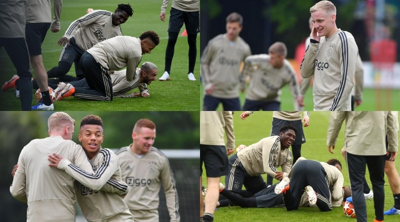 L'Ajax verso la finale: la squadra si diverte…placcando Ziyech