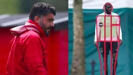 Milan, Gattuso e Bakayoko in allenamento dopo il chiarimento