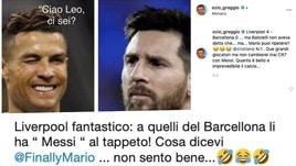 Ezio Greggio punzecchia Balotelli: «Cosa dicevi? Non cambierei mai Cristiano con Messi»